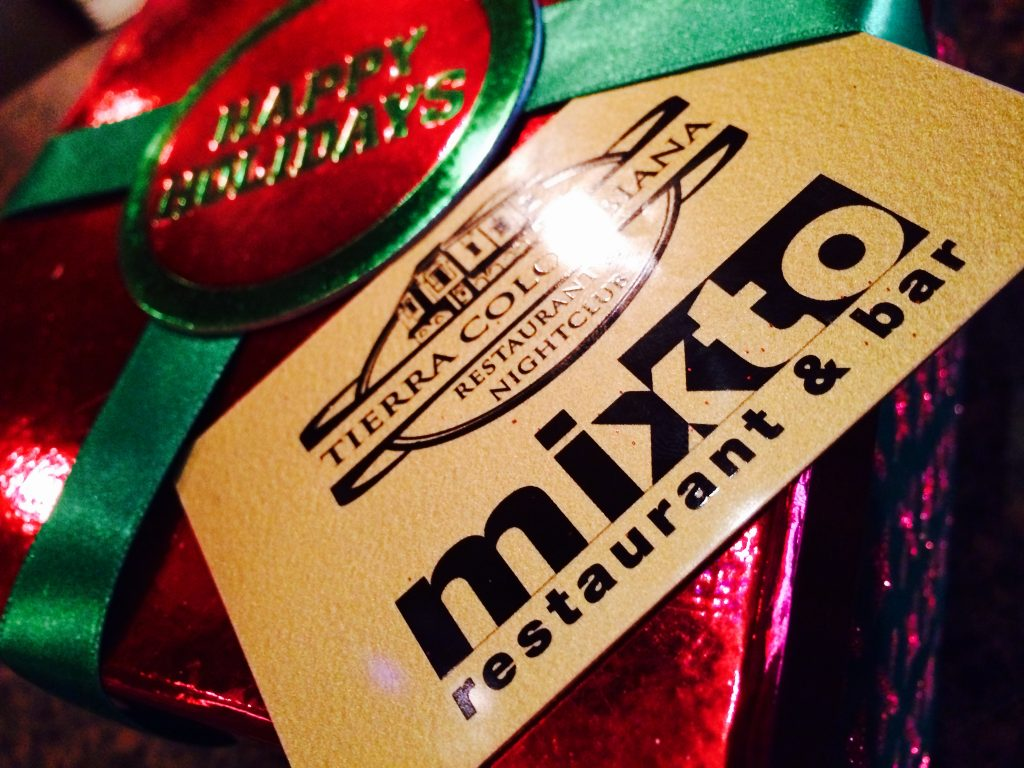 Holiday Hours Special Gift Card Offer Mixto Restaurante